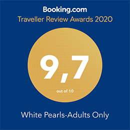 Luxury Suites in Kos, White Pearls - Booking.com 2020 award